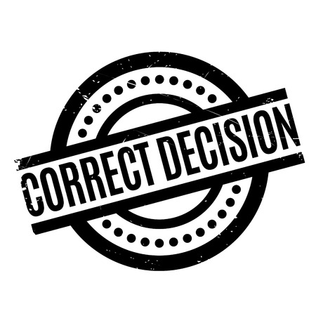 finding: Correct Decision rubber stamp. Grunge design with dust scratches. Effects can be easily removed for a clean, crisp look. Color is easily changed.