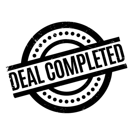 concluded: Deal Completed rubber stamp. Grunge design with dust scratches. Effects can be easily removed for a clean, crisp look. Color is easily changed.