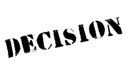 Decision rubber stamp. Grunge design with dust scratches. Effects can be easily removed for a clean, crisp look. Color is easily changed.