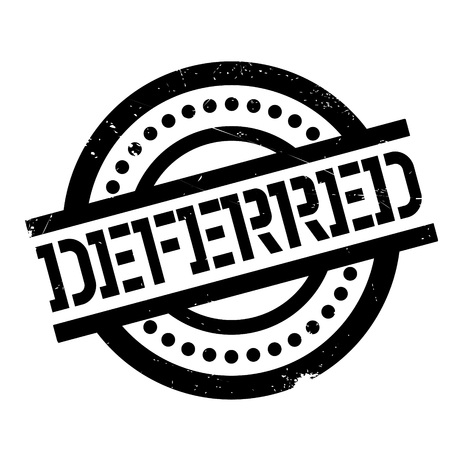 indebted: Deferred rubber stamp. Grunge design with dust scratches. Effects can be easily removed for a clean, crisp look. Color is easily changed. Stock Photo