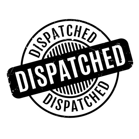despatch: Dispatched rubber stamp. Grunge design with dust scratches. Effects can be easily removed for a clean, crisp look. Color is easily changed.