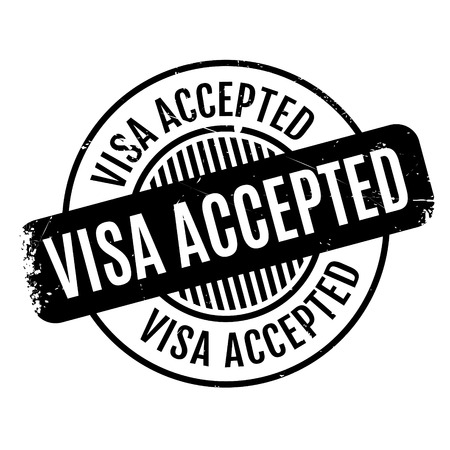 authorisation: Visa Accepted rubber stamp. Grunge design with dust scratches. Effects can be easily removed for a clean, crisp look. Color is easily changed. Illustration