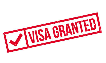 granted: Visa Granted rubber stamp. Grunge design with dust scratches. Effects can be easily removed for a clean, crisp look. Color is easily changed. Illustration