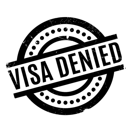 confirm: Visa Denied rubber stamp. Grunge design with dust scratches. Effects can be easily removed for a clean, crisp look. Color is easily changed.