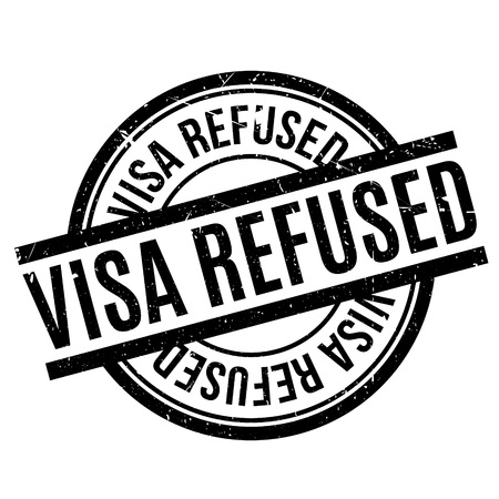 unauthorised: Visa Refused rubber stamp. Grunge design with dust scratches. Effects can be easily removed for a clean, crisp look. Color is easily changed.