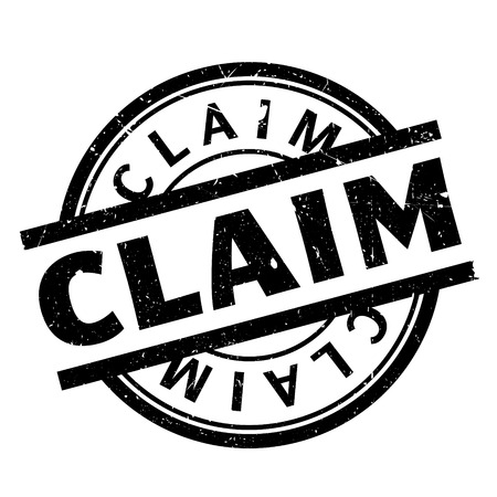 insure: Claim rubber stamp. Grunge design with dust scratches. Effects can be easily removed for a clean, crisp look. Color is easily changed.