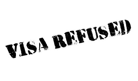 unapproved: Visa Refused rubber stamp. Grunge design with dust scratches. Effects can be easily removed for a clean, crisp look. Color is easily changed.