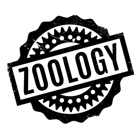 zoology: Zoology rubber stamp. Grunge design with dust scratches. Effects can be easily removed for a clean, crisp look. Color is easily changed.
