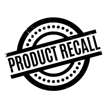 Product Recall rubber stamp. Grunge design with dust scratches. Effects can be easily removed for a clean, crisp look. Color is easily changed. Illustration