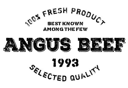 Angus beef stamp. Grunge design with dust scratches. Effects can be easily removed for a clean, crisp look. Color is easily changed. Illustration