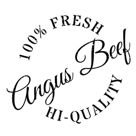 squabble: Angus beef stamp. Grunge design with dust scratches. Effects can be easily removed for a clean, crisp look. Color is easily changed. Illustration