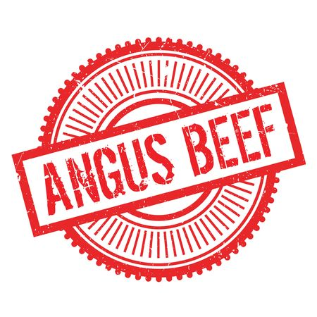 gripe: Angus beef stamp. Grunge design with dust scratches. Effects can be easily removed for a clean, crisp look. Color is easily changed. Illustration