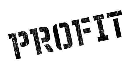 stead: Profit rubber stamp. Grunge design with dust scratches. Effects can be easily removed for a clean, crisp look. Color is easily changed.