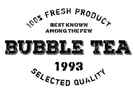 smolder: Bubble tea stamp. Grunge design with dust scratches. Effects can be easily removed for a clean, crisp look. Color is easily changed. Illustration