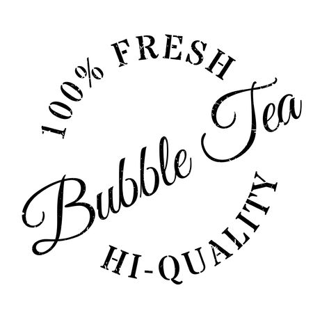 gush: Bubble tea stamp. Grunge design with dust scratches. Effects can be easily removed for a clean, crisp look. Color is easily changed. Illustration