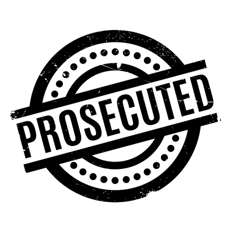 prosecute: Prosecuted rubber stamp. Grunge design with dust scratches. Effects can be easily removed for a clean, crisp look. Color is easily changed.