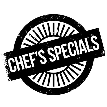 Chef specials stamp. Grunge design with dust scratches. Effects can be easily removed for a clean, crisp look. Color is easily changed.