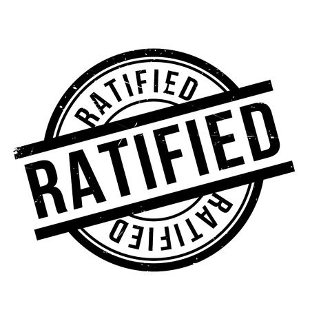 sanctioned: Ratified rubber stamp. Grunge design with dust scratches. Effects can be easily removed for a clean, crisp look. Color is easily changed.