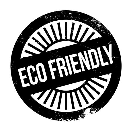 Eco friendly stamp. Grunge design with dust scratches. Effects can be easily removed for a clean, crisp look. Color is easily changed. Illustration