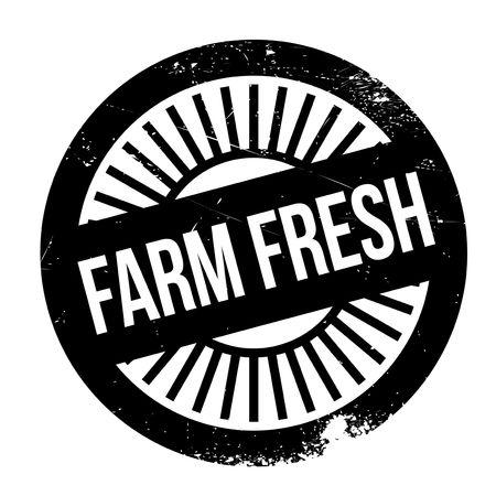 Bauernhof frische Stempel. Grunge-Design mit Staub Kratzer. Die Effekte können leicht für einen sauberen, frischen Look entfernt werden. Die Farbe ist leicht verändert. Standard-Bild - 68452658