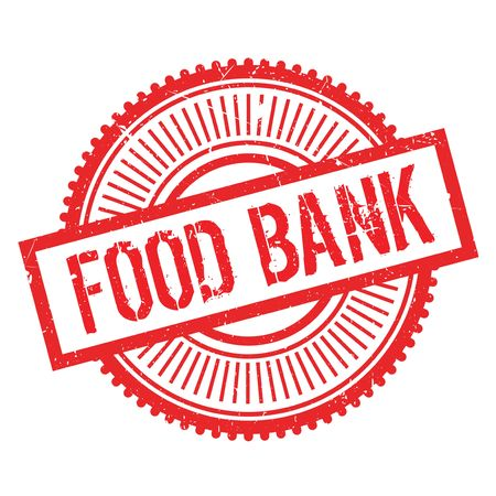 Food bank stamp. Grunge design with dust scratches. Effects can be easily removed for a clean, crisp look. Color is easily changed. Illustration