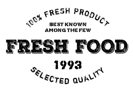 pesticide free: Fresh food stamp. Grunge design with dust scratches. Effects can be easily removed for a clean, crisp look. Color is easily changed. Illustration