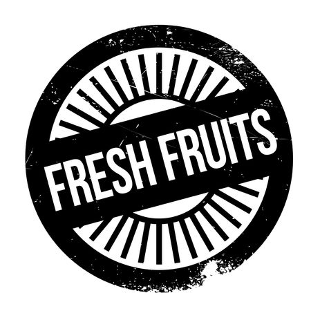 unskilled: Fresh fruits stamp. Grunge design with dust scratches. Effects can be easily removed for a clean, crisp look. Color is easily changed.