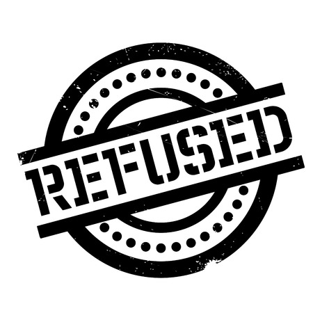 Refused rubber stamp. Grunge design with dust scratches. Effects can be easily removed for a clean, crisp look. Color is easily changed.