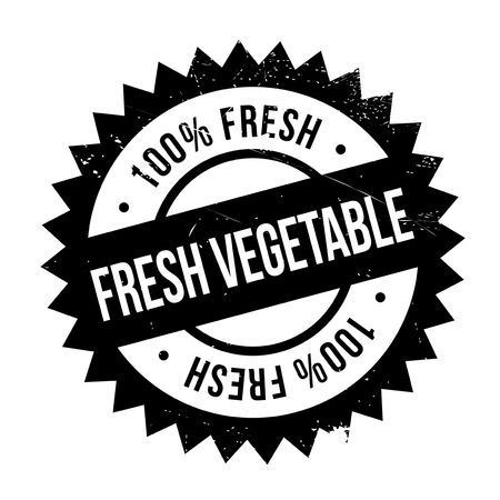 uncultivated: Fresh vegetable stamp. Grunge design with dust scratches. Effects can be easily removed for a clean, crisp look. Color is easily changed. Illustration