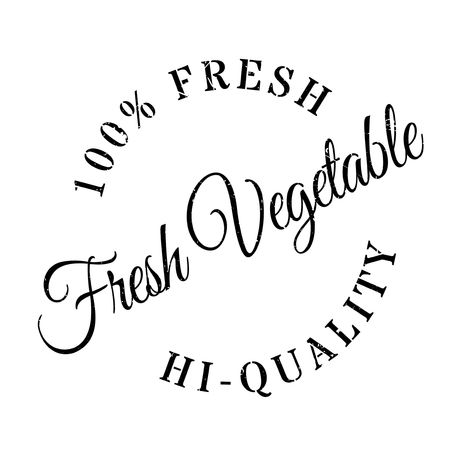 unskilled: Fresh vegetable stamp. Grunge design with dust scratches. Effects can be easily removed for a clean, crisp look. Color is easily changed. Illustration