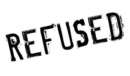 unauthorised: Refused rubber stamp. Grunge design with dust scratches. Effects can be easily removed for a clean, crisp look. Color is easily changed.