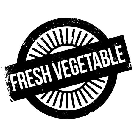 Fresh vegetable stamp. Grunge design with dust scratches. Effects can be easily removed for a clean, crisp look. Color is easily changed. Illustration