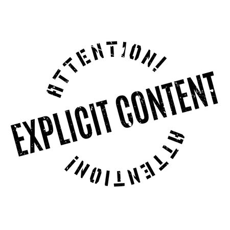 Explicit Content rubber stamp. Grunge design with dust scratches. Effects can be easily removed for a clean, crisp look. Color is easily changed.