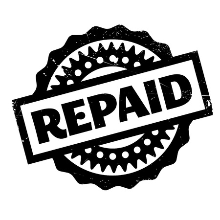 compensated: Repaid rubber stamp. Grunge design with dust scratches. Effects can be easily removed for a clean, crisp look. Color is easily changed.