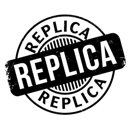Replica Stempel. Grunge-Design mit Staub Kratzer. Die Effekte können leicht für einen sauberen, frischen Look entfernt werden. Die Farbe ist leicht verändert.