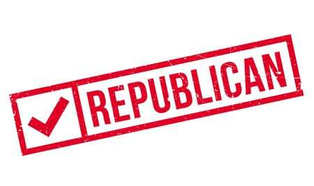 partisan: Republican rubber stamp. Grunge design with dust scratches. Effects can be easily removed for a clean, crisp look. Color is easily changed.