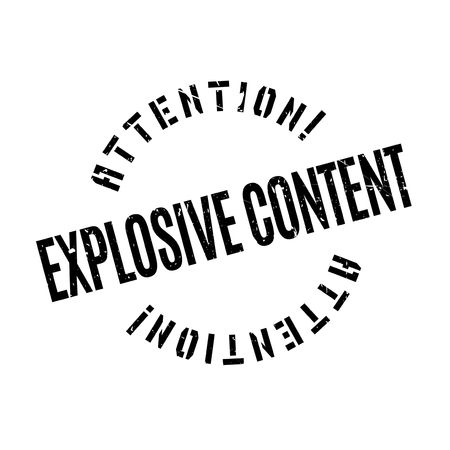 ebullient: Explosive Content rubber stamp. Grunge design with dust scratches. Effects can be easily removed for a clean, crisp look. Color is easily changed.