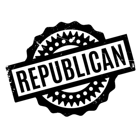 legislator: Republican rubber stamp. Grunge design with dust scratches. Effects can be easily removed for a clean, crisp look. Color is easily changed.