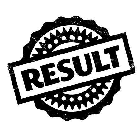 conclude: Result rubber stamp. Grunge design with dust scratches. Effects can be easily removed for a clean, crisp look. Color is easily changed. Stock Photo