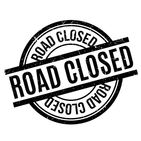 settled: Road Closed rubber stamp. Grunge design with dust scratches. Effects can be easily removed for a clean, crisp look. Color is easily changed.