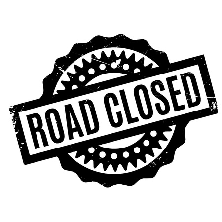 concluded: Road Closed rubber stamp. Grunge design with dust scratches. Effects can be easily removed for a clean, crisp look. Color is easily changed.