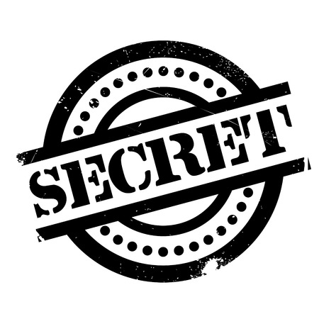 Secret rubber stamp. Grunge design with dust scratches. Effects can be easily removed for a clean, crisp look. Color is easily changed.