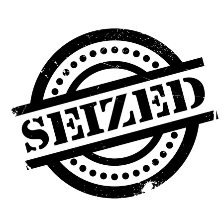 Seized rubber stamp. Grunge design with dust scratches. Effects can be easily removed for a clean, crisp look. Color is easily changed. Illustration