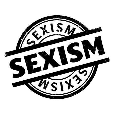 estereotipo: Sello de goma de sexismo. Diseño de Grunge con los rasguños polvo. Los efectos se pueden quitar fácilmente para una apariencia limpia y nítida. En color se cambia fácilmente. Vectores