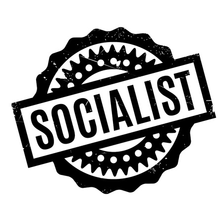 viewpoints: Socialist rubber stamp. Grunge design with dust scratches. Effects can be easily removed for a clean, crisp look. Color is easily changed.