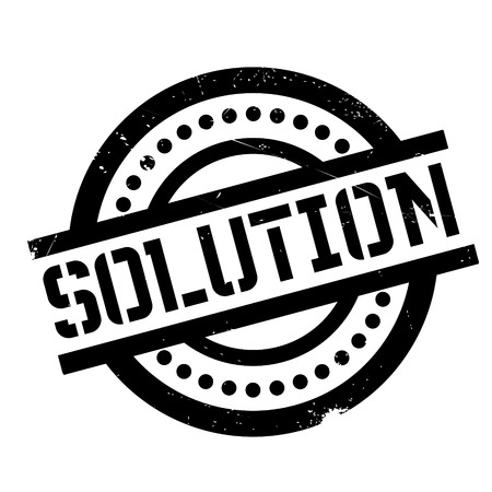 Solution rubber stamp. Grunge design with dust scratches. Effects can be easily removed for a clean, crisp look. Color is easily changed.