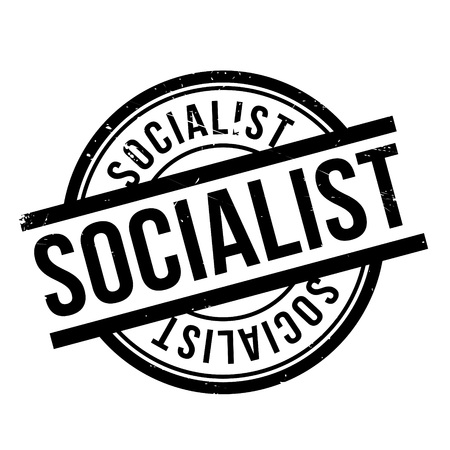 Socialist rubber stamp. Grunge design with dust scratches. Effects can be easily removed for a clean, crisp look. Color is easily changed.