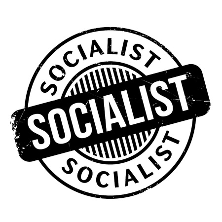 socialism: Socialist rubber stamp. Grunge design with dust scratches. Effects can be easily removed for a clean, crisp look. Color is easily changed.