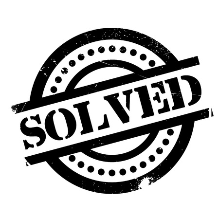 Solved rubber stamp. Grunge design with dust scratches. Effects can be easily removed for a clean, crisp look. Color is easily changed. Illustration