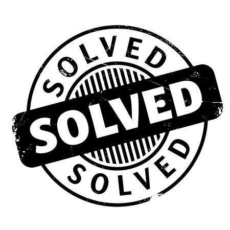 pursuit: Solved rubber stamp. Grunge design with dust scratches. Effects can be easily removed for a clean, crisp look. Color is easily changed. Illustration